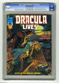 Magazines:Horror, Dracula Lives! #10 (Marvel, 1975) CGC NM 9.4 Off-white to white pages. Luis Dominguez cover. Don Maitz frontispiece. Tony De... (1 )