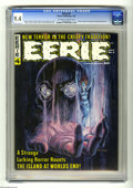 Magazines:Horror, Eerie #4 (Warren, 1966) CGC NM 9.4 Off-white to white pages. Monster Gallery frontispiece by Roy Krenkel. Gray Morrow cover....