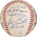 Autographs:Baseballs, 1960 New York Yankees Team Signed Baseball.. ...