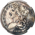 Patterns, 1838 P50C Half Dollar, Judd-72, Pollock-75, R.5, PR64+ NGC....