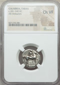 Ancients:Greek, Ancients: CALABRIA. Tarentum. Ca. 281-240 BC. AR stater ordidrachm. NGC Choice VF....