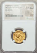 Ancients:Byzantine, Ancients: Heraclius (AD 610-641) and Heraclius Constantine.AVsolidus.NGC Choice AU....