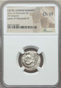 Ancients:Celtic, Ancients: DANUBE REGION. Balkan Tribes. Imitating Alexander III theGreat (336-323 BC). Ca. 2nd-1st centuries BC. AR drachm.NGC Choice ...