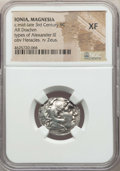 Ancients:Greek, Ancients: IONIA. Magnesia ad Maeandrum. Ca. mid-late 3rd centuryBC. AR drachm. NGC XF....