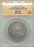 Counterstamps, 1807 50C Draped Bust, O-102, T-8, R.2, -- Counterstamped 'RF' -- ANACS. Good 6 Details. NGC Census: (0/63). PCGS Population...