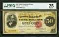 Large Size:Gold Certificates, Fr. 1194 $50 1882 Gold Certificate PMG Very Fine 25.. ...