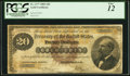 Large Size:Gold Certificates, Fr. 1177 $20 1882 Gold Certificate PCGS Fine 12.. ...