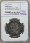 Early Half Dollars, 1806/5 50C -- Improperly Cleaned -- Details NGC. VF. NGC Census:(6/78). PCGS Population: (31/152). CDN: $650 Whsle. Bid fo...