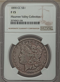 1890-CC $1 Fine 15 NGC. NGC Census: (102/6522). PCGS Population: (177/12564). Mintage 2,309,041. From the Maumee Val...(...