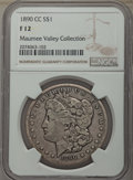 1890-CC $1 Fine 12 NGC. NGC Census: (135/6624). PCGS Population: (188/12741). CDN: $82 Whsle. Bid for problem-free NGC/P...