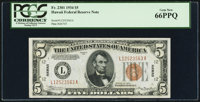 Fr. 2301 $5 1934 Hawaii Federal Reserve Note. PCGS Gem New 66PPQ