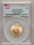 Modern Issues, 2013-P $5 Five-Star Generals Gold Five Dollar, First Strike, MS69 PCGS. PCGS Population: (108/115). ...