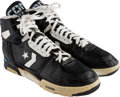 Basketball Collectibles:Others, Early 1990's Larry Bird Game Worn & Signed Boston Celtics Sneakers.. ...