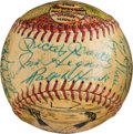 Autographs:Baseballs, 1961 New York Yankees Original Folk Art Team Signed Baseball Painted by George Sosnak....