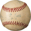 Autographs:Baseballs, 1958 .400 Hitters Multi-Signed Baseball with Cobb, Hornsby, Williams, Sisler & Terry.. ...