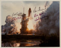 Autographs:Photos, 1983 Space Shuttle (STS-7) Crew Signed Original NASA Photographwith Sally Ride....
