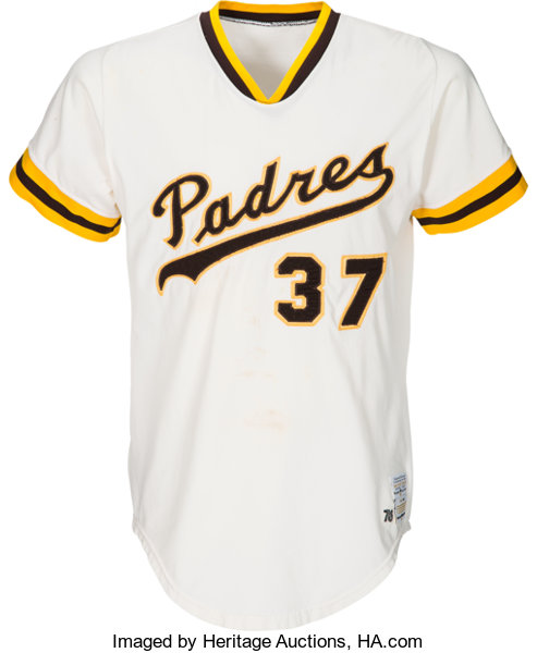 new style 132e8 f8a98 1976 Dave Tomlin Game Worn San Diego Padres Jersey ...