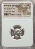 Ancients:Greek, Ancients: MACEDONIAN KINGDOM. Alexander III the Great (336-323 BC).AR drachm (4.33 gm). NGC Choice AU 4/5 - 3/5....