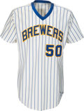 Baseball Collectibles:Uniforms, 1984-85 Pete Vuckovich Game Worn Milwaukee Brewers Jersey. . ...