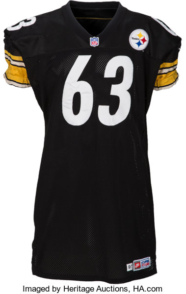 more photos 55475 0941d 1998 Dermontti Dawson Game Worn Pittsburgh Steelers Jersey ...