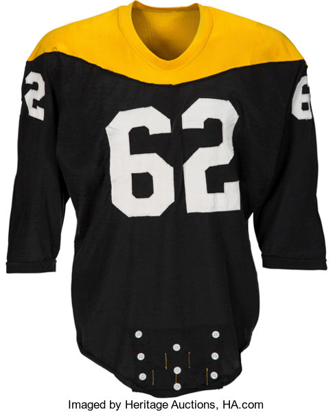 a77b749d5 Football Collectibles:Uniforms, 1966-67 Ralph Wenzel Game Worn Pittsburgh  Steelers Jersey.