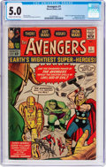 Silver Age (1956-1969):Superhero, The Avengers #1 (Marvel, 1963) CGC VG/FN 5.0 Cream to off-...