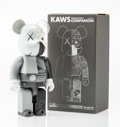 Fine Art - Sculpture, American:Contemporary (1950 to present), KAWS X BE@RBRICK. Dissected Companion 400% (Grey), 2010.Painted cast vinyl. 10-1/2 x 5-1/4 x 3-1/2 inches (26.7 x 13.3 ...