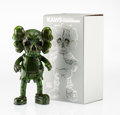 Fine Art - Sculpture, American:Contemporary (1950 to present), KAWS X Pushead. Companion (Green), 2005. Painted cast vinyl.10-1/2 x 5-1/2 x 3-1/4 inches (26.7 x 14 x 8.3 cm). Stamped...