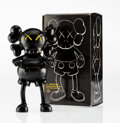 Fine Art - Sculpture, American:Contemporary (1950 to present), KAWS (American, b. 1974). Companion (Black), 1999. Paintedcast vinyl. 7-1/2 x 4 x 2 inches (19.1 x 10.2 x 5.1 cm). Edit...