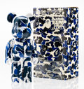 Fine Art - Sculpture, American:Contemporary (1950 to present), BE@RBRICK X BAPE. BAPE Play Camo 400% (Blue and White),2008. Painted cast vinyl. 10-1/2 x 5-1/4 x 3-1/2 inches (26.7 x ...
