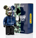 Fine Art - Sculpture, American:Contemporary (1950 to present), BE@RBRICK X BAPE. 1st Camo Shark 400% (Blue), 2016. Paintedcast vinyl. 10-1/2 x 5-1/4 x 3-1/2 inches (26.7 x 13.3 x 8.9...