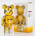 Fine Art - Sculpture, American:Contemporary (1950 to present), BE@RBRICK. Tokyo Skytree Town 400% (Gold), 2015. Paintedcast resin. 10-3/4 x 5-1/4 x 3-1/2 inches (27.3 x 13.3 x 8.9 cm...