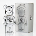 Fine Art - Sculpture, American:Contemporary (1950 to present), BE@RBRICK X Project 1/6. Centurion 400% (Platinum), 2014.Painted cast vinyl. 10-3/4 x 5-1/4 x 3-1/2 inches (27.3 x 13.3...