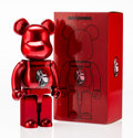 Fine Art - Sculpture, American:Contemporary (1950 to present), BE@RBRICK X Project 1/6. Centurion 400% (Red), 2014. Paintedcast resin. 10-3/4 x 5-1/4 x 3-1/2 inches (27.3 x 13.3 x 8....