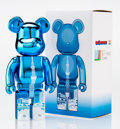 Fine Art - Sculpture, American:Contemporary (1950 to present), BE@RBRICK. Tokyo Skytree Town 400% (Blue), 2015. Paintedcast resin. 10-3/4 x 5-1/4 x 3-3/4 inches (27.3 x 13.3 x 9.5 cm...
