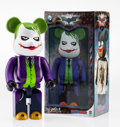 Fine Art - Sculpture, American:Contemporary (1950 to present), BE@RBRICK X DC Comics. The Joker 400%, from The DarkKnight Trilogy, 2015. Painted cast resin. 10-1/2 x 5-1/4 x3-3/...