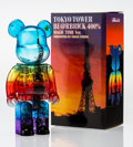 Fine Art - Sculpture, American:Contemporary (1950 to present), BE@RBRICK. Tokyo Tower 55th Anniversary Magic Time 400%,2015. Painted cast resin. 10-1/2 x 5-1/4 x 3-3/4 inches (26.7 x...