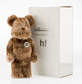 Collectible, BE@RBRICK X Hiroshi Fujiwara. BWWT HF 400% (Brown), 2004. Cast resin, with polyester. 11 x 5-1/2 x 3-1/2 inches (27.9 x ...