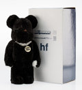 Fine Art - Sculpture, American:Contemporary (1950 to present), BE@RBRICK X Hiroshi Fujiwara. BWWT HF 400%, 2004. Castresin, with polyester. 11 x 6 x 4-1/4 inches (27.9 x 15.2 x 10.8...