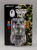 Fine Art - Sculpture, American:Contemporary (1950 to present), BE@RBRICK X BAPE. Shark Hoodie 100% (Green), 2015. Painted cast vinyl. 6 x 4 x 1 inches (15.2 x 10.2 x 2.5 cm) (box). Pu...