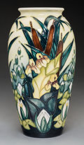 Ceramics & Porcelain, British:Contemporary   (1950 to present)  , Moorcroft Pottery Bearded Iris and Lotus Vase. Circa 1996.Stamped MOORCROFT, MADE IN ENGLAND with ciphers and d...