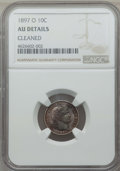 Barber Dimes: , 1897-O 10C -- Cleaned -- Details NGC. AU. NGC Census: (1/53). PCGSPopulation: (7/95). CDN: $450 Whsle. Bid for problem-fre...