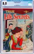 Golden Age (1938-1955):Romance, True Life Secrets #6 (Romantic Love Stories/Charlton, 1952) CGC VF8.0 White pages....