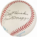 "Autographs:Baseballs, Joe DiMaggio ""Best Wishes"" Single Signed Baseball.. ..."