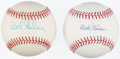 Autographs:Baseballs, Bob Gibson Single Signed Baseball Lot of 2. . ...