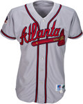 Baseball Collectibles:Uniforms, 1997 Greg Maddux Game Worn & Signed Atlanta Braves Jersey withPlayer Provenance. . ...