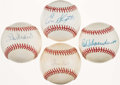 Autographs:Baseballs, St. Louis Cardinals Greats Single Signed Baseball Collection (4)....