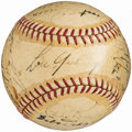 Autographs:Baseballs, 1939 New York Yankees Team Signed Baseball (25 Signatures). ...