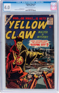 Silver Age (1956-1969):Superhero, The Yellow Claw #3 (Atlas, 1957) CGC VG 4.0 Cream to off-white pages....