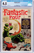 Silver Age (1956-1969):Superhero, Fantastic Four #1 (Marvel, 1961) CGC VG+ 4.5 Off-white to white pages....
